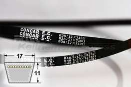 C64 klassischer Keilriemen nach DIN2215 22x1625 mm Li